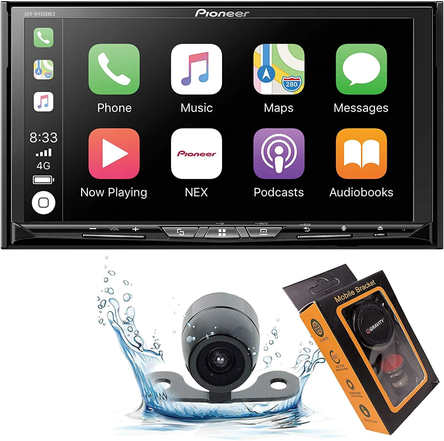 double din car stereo with backup camera