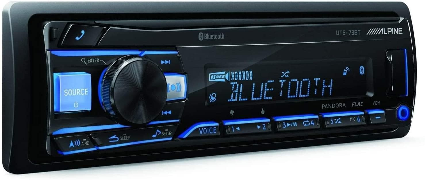 Alpine UTE-73BT Advanced Bluetooth Mech-Less Digital Media